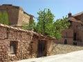 Mora de rubielos teruel spain castle and church in Stock Photography