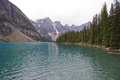 Moraine lake banff alberta canada is a glacially fed in national park Stock Photos