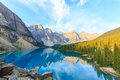 Moraine lake canadian rockies idyllic in banff national park Royalty Free Stock Photos