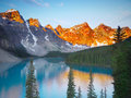 Moraine Lake in the morning light Royalty Free Stock Photo