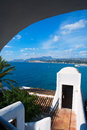Moraira alicante high angle view mediterranean houses in spain Royalty Free Stock Photography