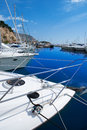 Moraira alicante marina in mediterranean sea of spain Stock Photography