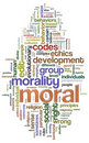 Moral wordcloud Stock Photo