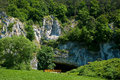 Moravian karst important area of ​​czech republic important paleontological sites and tourist area the portal of entry Stock Photos