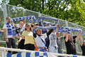 Moravian-Silesian League, football fans Royalty Free Stock Photography