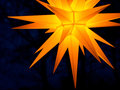 Moravian star - traditional decoration Royalty Free Stock Photography