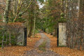 Moray a winter driveway this is the to large house in scotland united kingdom after all the leaves have fallen in december Royalty Free Stock Images