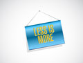 less is more banner sign concept Royalty Free Stock Photo