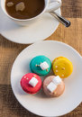 More colorful macarons Royalty Free Stock Photo