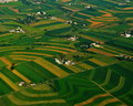 More farms and fields of lancaster small in county seen from the air great patterns designs in the farmland Stock Photo