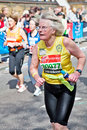 The more mature marathon runner Royalty Free Stock Photography