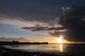 Morecambe Bay Sunset Royalty Free Stock Photo