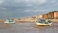 Morecambe lancashire england boats moored at uk europe Royalty Free Stock Photo