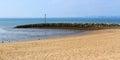 Morecambe lancashire england sea front and beach at uk europe Royalty Free Stock Photo