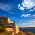 Morella in castellon maestrazgo castle fort at spain Royalty Free Stock Photography