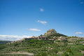 Morella old town hilltop fortified of castellon spain Stock Photography