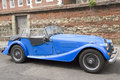 Morgan car vintag sport classic in blue Royalty Free Stock Images
