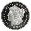 Morgan Dollar coin Royalty Free Stock Photo
