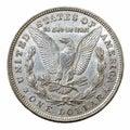 Morgan Dollar silver coin Royalty Free Stock Photo