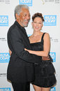 Morgan freeman ashley judd and at the usa today hollywood hero gala honoring montage hotel beverly hills ca Royalty Free Stock Photo