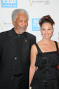Morgan freeman ashley judd and at the usa today hollywood hero gala honoring montage hotel beverly hills ca Royalty Free Stock Photos