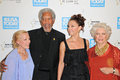 Morgan freeman zina bethune ashley judd ellen burstyn and and and at the usa today hollywood hero gala honoring Royalty Free Stock Image