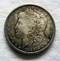 Morgan Silver Dollar Stock Afbeelding