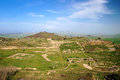 Morgantina, Sicily. View of the archaeological site Royalty Free Stock Images