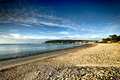 Morgat beach a morning in the from brittany Royalty Free Stock Image