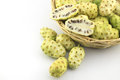 Morinda citrifolia or noni in basket Royalty Free Stock Photo