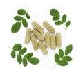 Moringa oleifera capsule Stock Photos