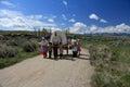 Mormon Pioneer Handcart Trek: Family Royalty Free Stock Photo