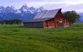 Mormon row, Grand Teton national park, Jackson Hole , Wyoming, Royalty Free Stock Photo