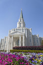 Mormon temple the houston texas temple is the th operating temple of the church of jesus christ of latter day saints Stock Photography