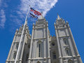 Mormon Temple in Salt Lake City, Utah Royalty Free Stock Photos