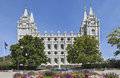 Mormon temple the salt lake temple utah in is th operating of church of jesus christ of latter day saints Stock Photos