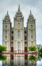 Mormons' Temple in Salt Lake City, UT Royalty Free Stock Photography