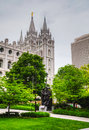 Mormons temple salt lake city ut evening Stock Image