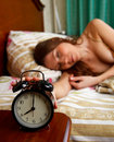 Morning. Alarm clock. Royalty Free Stock Photography