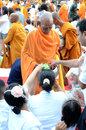 Morning alms-offering to 12600 Buddhist monks Stock Photography