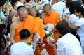 Morning alms-offering to 12600 Buddhist monks Stock Images
