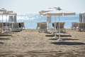 Morning on the beach sunny resort shore bulgaria Stock Images