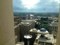 Morning city scape viewing atlanta from floors up Stock Photography