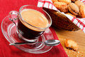Morning coffee and cookies Royalty Free Stock Images
