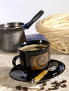 Morning coffee. Cup of espresso Royalty Free Stock Photo
