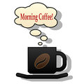 Morning coffee illustration icons cup of on a white background Royalty Free Stock Photo