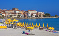 Morning color, Ile Rousse, Corsica Royalty Free Stock Image
