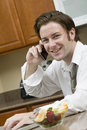 Morning Conference Call Royalty Free Stock Photo