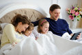 Morning of the day off in the family. Royalty Free Stock Photo