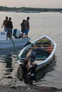 Morning of fishermen Royalty Free Stock Photo